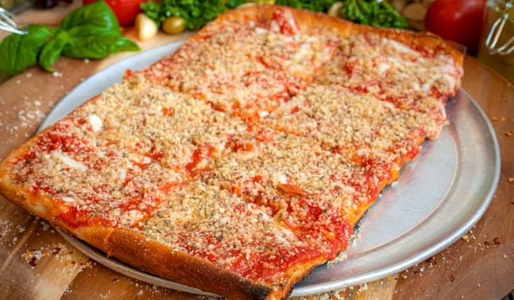 Thin Crust Grandma's Pizza